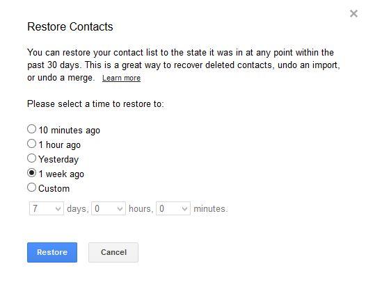 Restore-Contacts