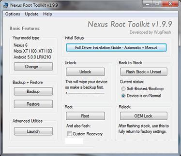 Nexus_racine_toolkit_installation