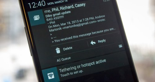 Notification email android
