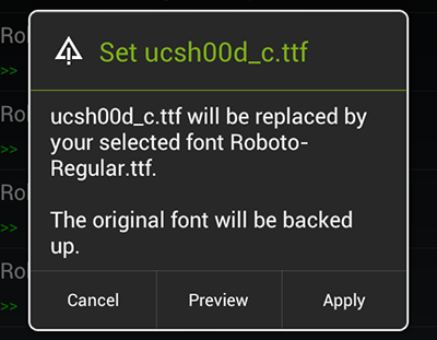 Roboto Regular font android