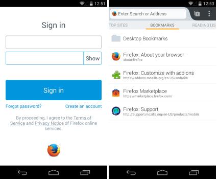 Đồng bộ dữ liệu FireFox trên điện thoại Android và máy tính
