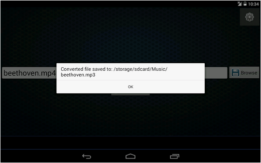 convert video to mp3 android