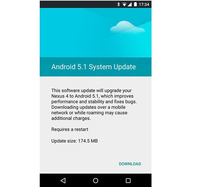 nexus 5 android 5.1 lollipop