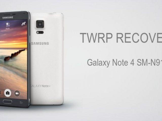 Cài đặt TWRP Recovery cho Galaxy Note 4 SM-N910C