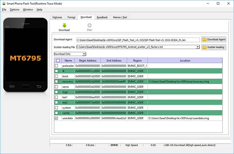 smart-phone-flash-tool-runtime-trace-mode