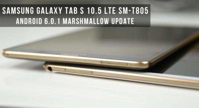 Nâng cấp Samsung Galaxy Tab S 10 5 LTE lên Android Mashmallow