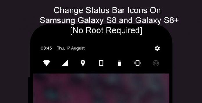 Thay đổi thanh trạng thái trên Galaxy S8 và S8 Plus không cần root